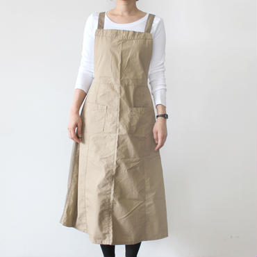 EURO KITCHEN APRON SKIRT_BEIGE×BROWN