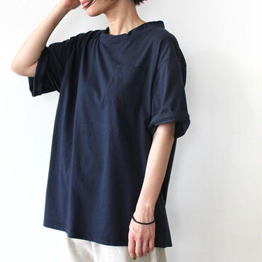 DOUBLE NECK T-SHIRT_NAVY