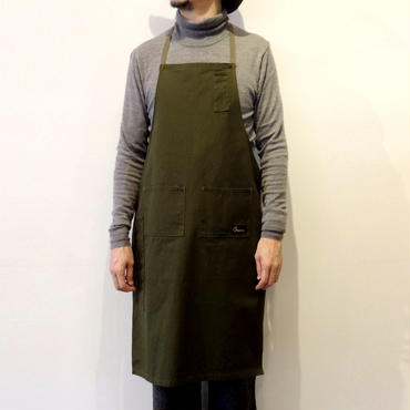 05 4POCKET CANVAS FULL APRON_KHAKI