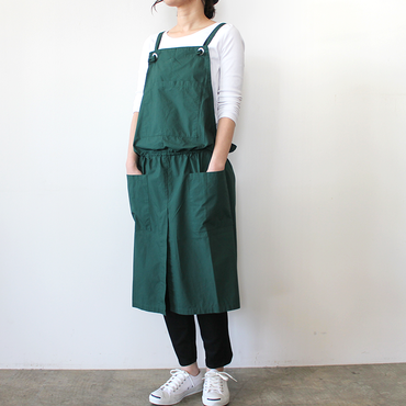 GATHER WRAP APRON_GREEN
