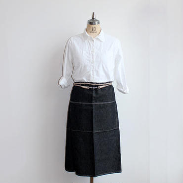 20 ROPE APRON_BLACK CHAMBRAY