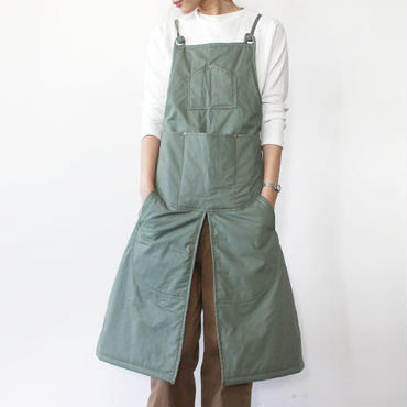 WINTER SPLIT APRON_OLIVE