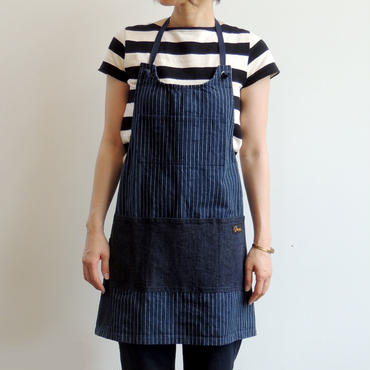 08 MAKERS FULL APRON_NAVY STRIPE