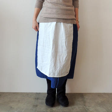 HARVEST SKIRT_CREAM×R.BLUE