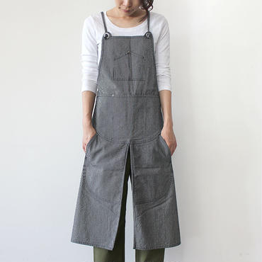 【直営店限定】SPLIT APRON_STRIPE_NAVY