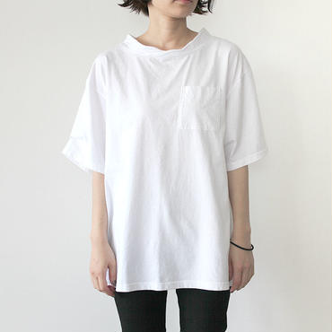 DOUBLE NECK T-SHIRT_WHITE