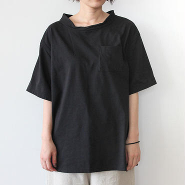 DOUBLE NECK T-SHIRT_BLACK