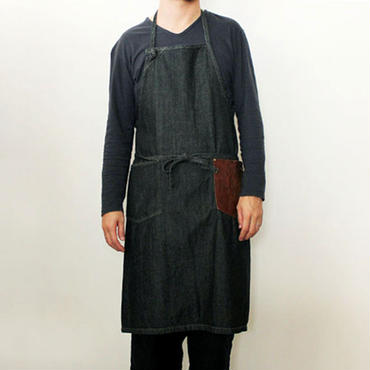 09 DENIM CRAFT APRON_BLACK