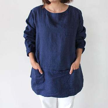 APRON SHIRT_NAVY