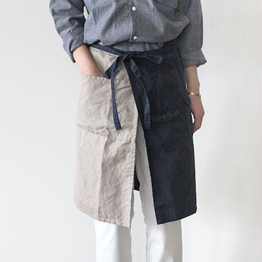 TRAVELERS APRON_GRAY×NAVY