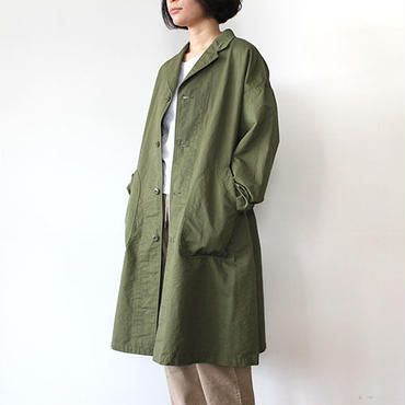 WIDE WORK COAT_OLIVE