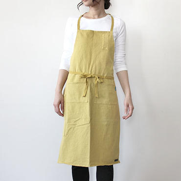 HEAVY JERSEY 4POCKET APRON_MUSTARD