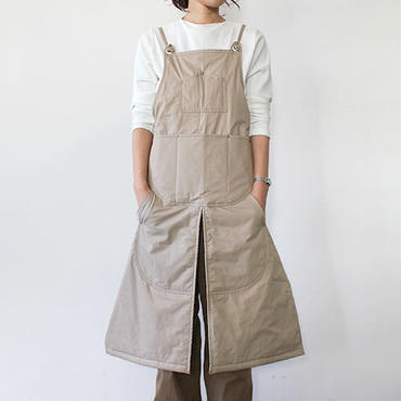 WINTER SPLIT APRON_BEIGE