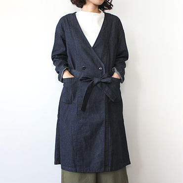 GOWN COAT_INDIGO