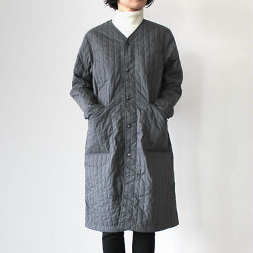 QUILTING WORK COAT_CHARCOAL GRAY