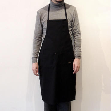 05 4POCKET CANVAS FULL APRON_BLACK