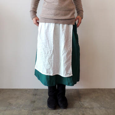 HARVEST SKIRT_CREAM×GREEN