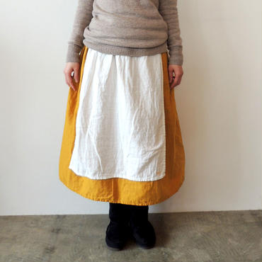 HARVEST SKIRT_CREAM×MUSTARD