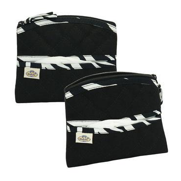 ナラヤ NaRaYa コスメケース ティッシュポーチ 化粧ポーチ(タイプU)・キャンバス地(ブラック・サファリ) NCNC-01E