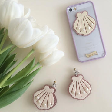 Tiny sweet seashell Mikiwuu オリジナル ピアス