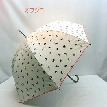 【晴雨兼用】【長傘】UVカット99%★優れた防水性のネコ柄大寸ジャンプ晴雨兼用傘