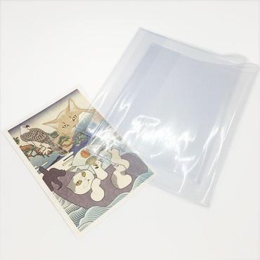 御朱印帳カバー クリアカバー 透明 2枚組 L判用 押さえ紙付き