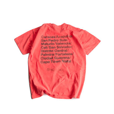 CITIES REFLECTIVE WASHED TEE  (BRIGHT ORANGE)