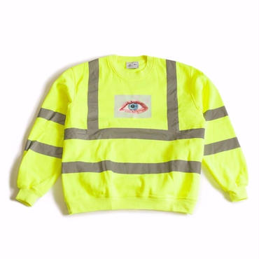 SAFETY FIRST CREWNECK SWEATSHIRT (NEON YELLOW)