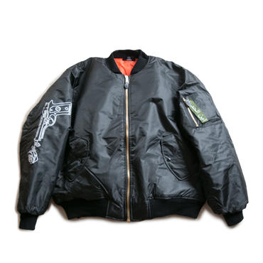 CITIES OVERSIZED BOMBER JACKET  (BLACK)