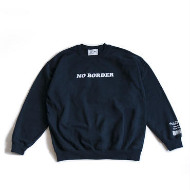 NO BORDER CREWNECK SWEATSHIRT (NAVY)