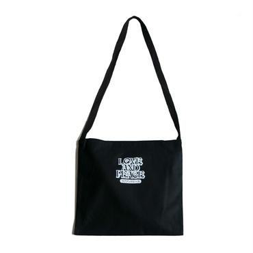 LOVE & PEACE COTTON BAG (BLACK)