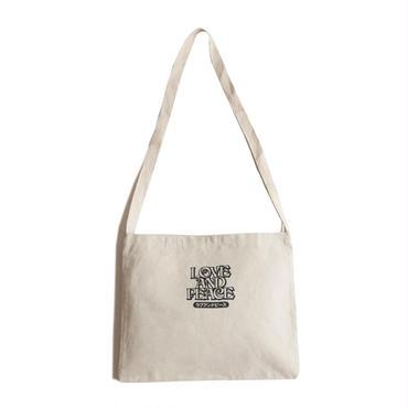 LOVE & PEACE COTTON BAG (NATURAL)