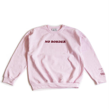 NO BORDER CREWNECK SWEATSHIRT (LIGHT PINK)