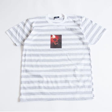 BURNING ROSE TEE  (STRIPE)