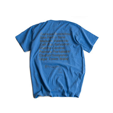 CITIES REFLECTIVE WASHED TEE  (BLUE)