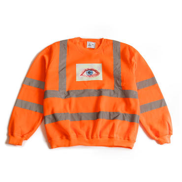 SAFETY FIRST CREWNECK SWEATSHIRT (NEON ORANGE)