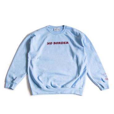 NO BORDER CREWNECK SWEATSHIRT (LIGHT BLUE)