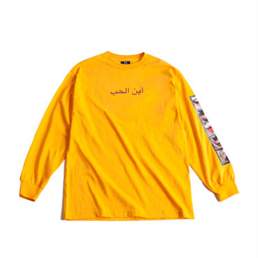 EMOTION L/S TEE  (GOLD)