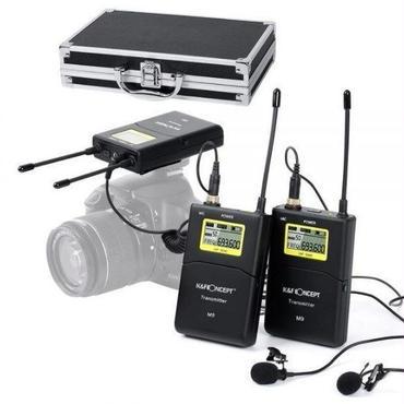 K&FコンセプトM9 100チャンネルUHF ワイヤレスマイクシステム キャノンニコンソニーカメラビデオカメラ 3.5mm (100m / 328ftレンジ)