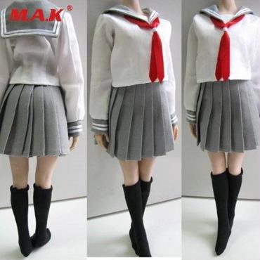 1/6サイズ PHICENファイセン素体対応 女性フィギュア用 学生服 ドール服 学生服シリーズ 靴下セット