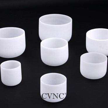 CVNC クリスタルシンギングボウル 6インチ-12インチ セット マレット チャクラ 水晶 7ピース