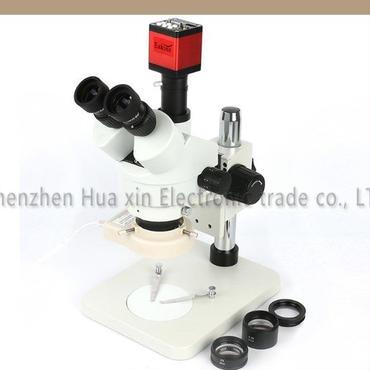 3.5~90x 連続ズームサイマル- 焦点ステレオ 三眼 顕微鏡 + 13mp hdmi vga産業用カメラ+ 56 ledライト+ 0.5x/2.0x 1xレンズ