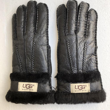 UGG ムートン 手袋 ブラック
