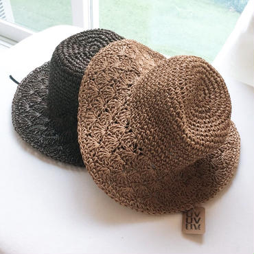 UVカット麦わら帽子