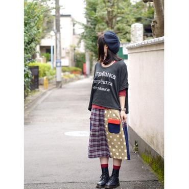 お手伝いスカート チェック✖️ドット 2色
