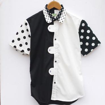 ぼったんシャツ~数字×モノトン~