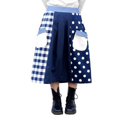 【こども服】お手伝いスカート チェック✖️デニム