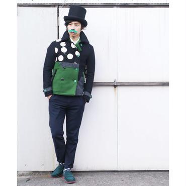 暖か~気まぐれピーコート。 黒×緑