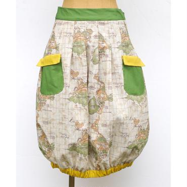 気球スカート  マップ柄