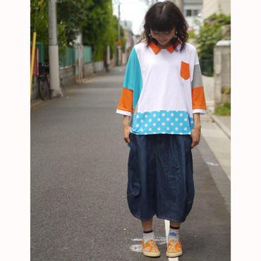 ゴム風船Tしゃつ ~水色×オレンジ~